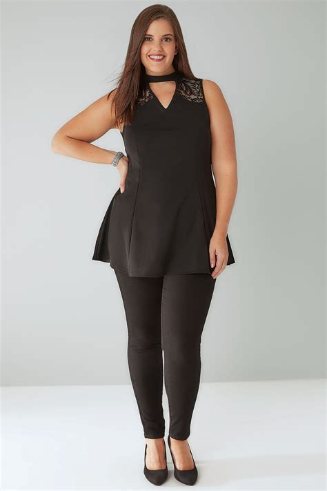 Goldsmiths Gift Card Terms And Conditions - black peplum choker top with lace panel plus size 16 to 36