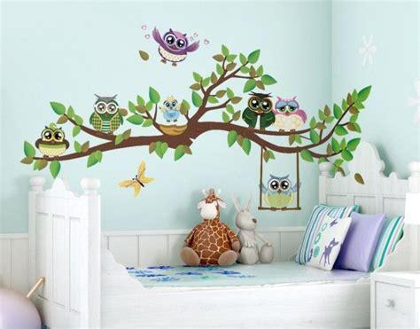Wandtattoo Kinderzimmer Selber Malen by Wandtattoo Kinderzimmer Eule No Yk24 Lustiger Eulenzweig