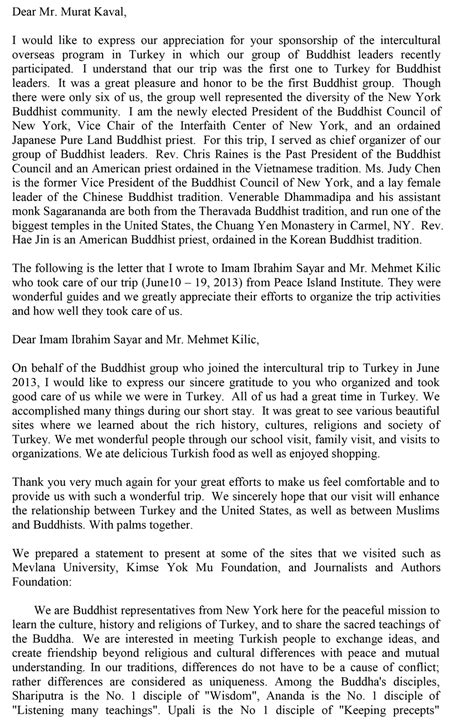 thank you letter to resource thank you letter from buddhist community sle pii