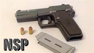 papercraft weapons templates of pm nsp papercraft gun build review