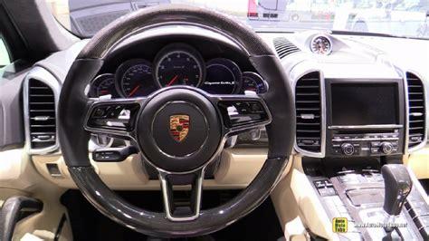 porsche cayenne 2016 interior 2016 porsche cayenne turbo s at 2015 detroit auto show