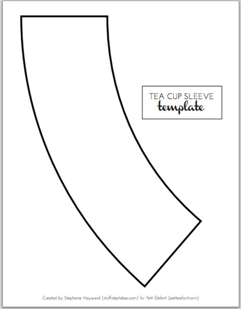 Home made DIY tea cup template   Sewing projects