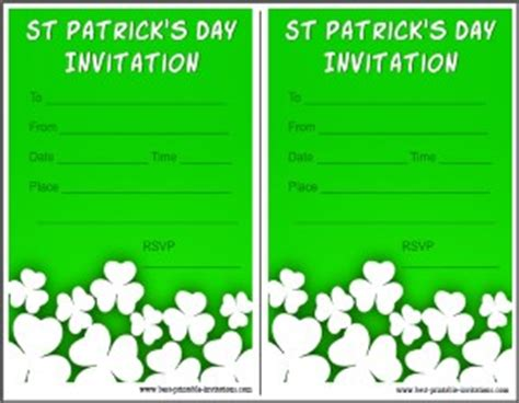 Printable St Patrick S Day Invitations St S Day Invitation Template