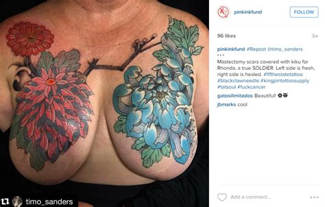 tattoo you instagram pink ink fund post mastectomy tattoo account reactivated