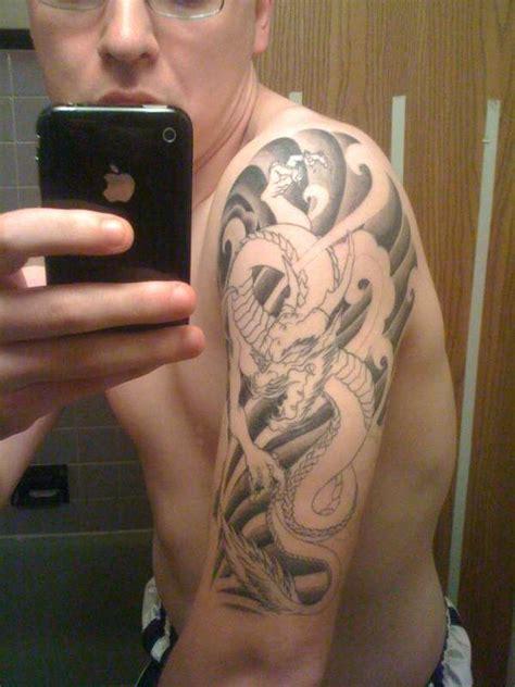 oriental tattoo half sleeve japanese dragon half sleeve tattoo