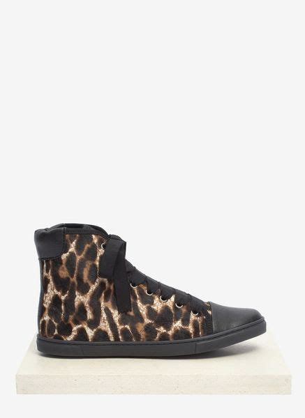 pony hair sneakers lanvin leopard printed pony hair sneakers in brown animal