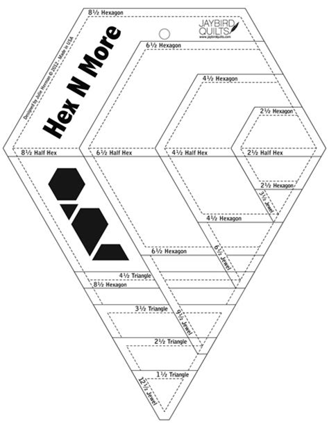 Half Hexagon Quilt Ruler by The Fabric Half Hexi Quilt A Giveaway