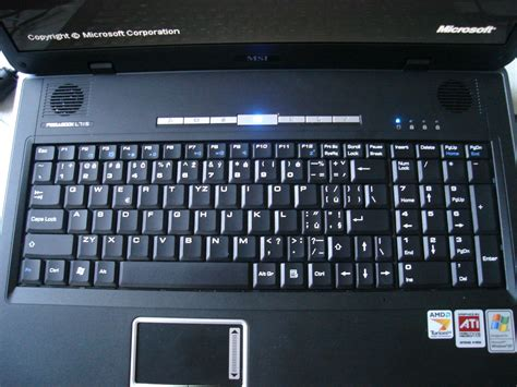 Keyboard Laptop Msi msi megabook l715 review pics specs notebookreview