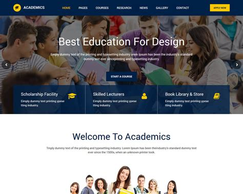 education website 20 best education html website templates 2019 templatemag