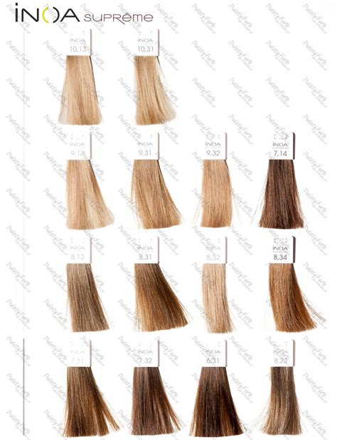 inoa supreme colour chart inoa supreme 1 hair supreme copper hair