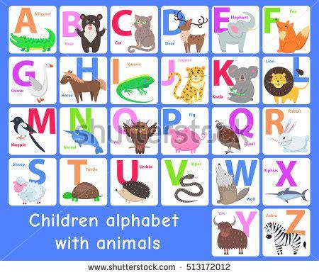 quot animals zoo alphabet with animals u animals alphabet letter z various animals stock vector