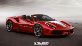 Ferraris Pictures 488 Spider Rendered In Special Guise Gtspirit