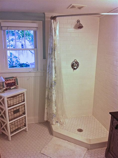 shower stall curtain rods how to make your own curved curtain rod curtain