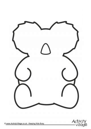 Animal Templates Koala Template