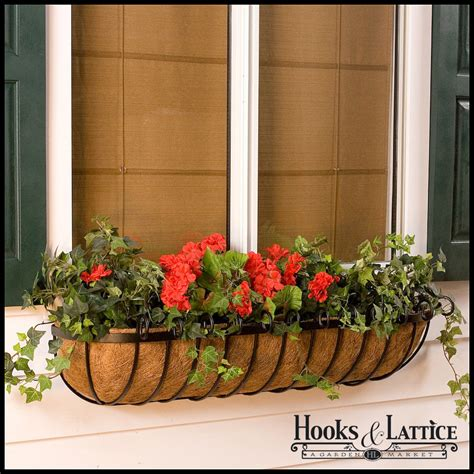 Planters Window Boxes by Moss Planters Coco Planter Window Planters Scroll Iron