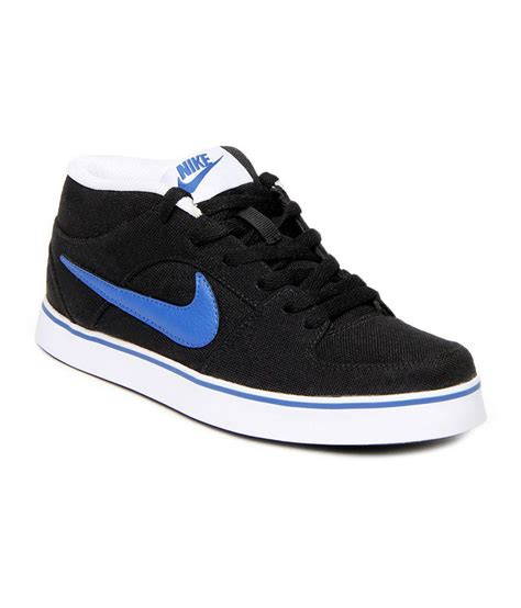 nike black synthetic leather casual shoes price in india
