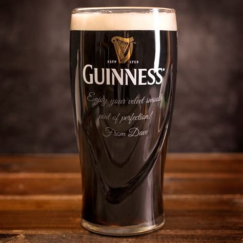 pint glass personalised guinness pint glass gettingpersonal co uk