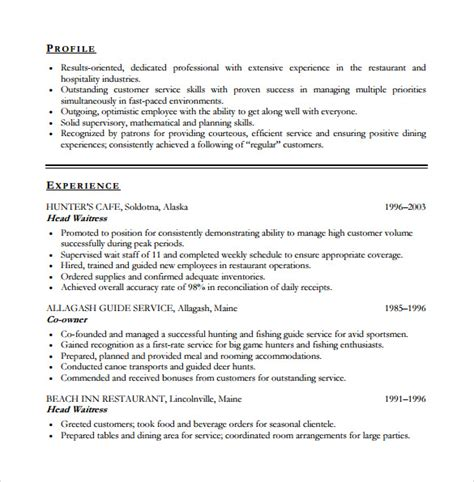 Customer Service Resume Sle Pdf Customer Service Resume 10 Free Documents In Pdf Word