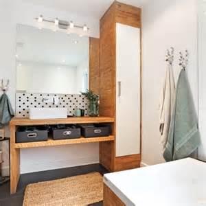 salle de bain rustique scandinave salle de bain