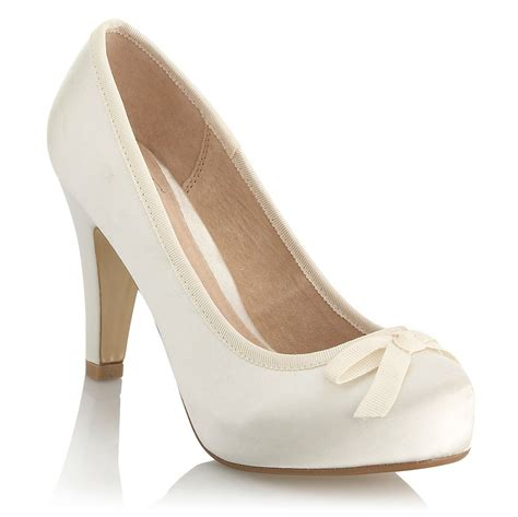 hochzeit schuhe braut wedding shoes ivory b connor bridal court shoes