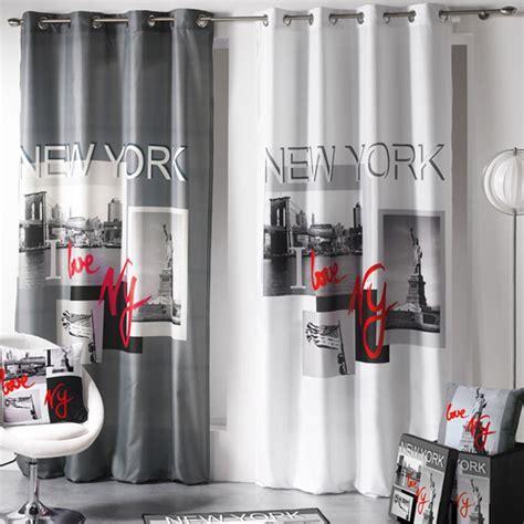rideau 140x260cm quot i new york quot gris