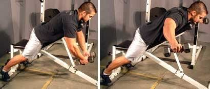 bent over lateral raises on incline bench working the stubborn rear deltoid muscle back of your