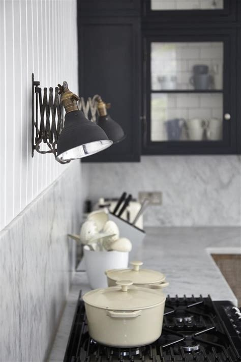 Kitchen Sconce Lighting 11 Best Industrial Style Black Sconces For The Kitchen Remodelista