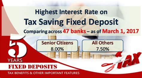 bank march highest tax saving bank fixed deposit rates 80c march 2017