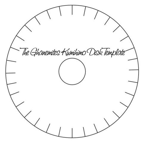 Kumihimo Template by My 32 Slot Kumihimo Disk Template Al Ghanem