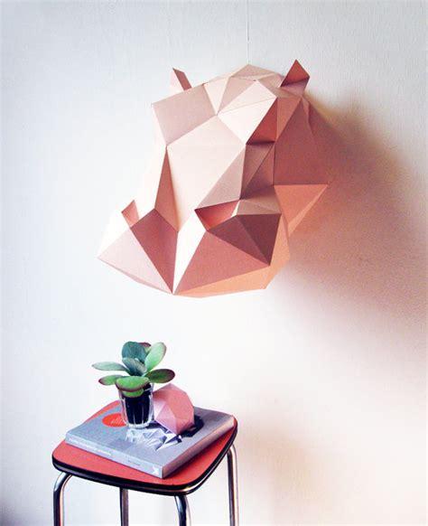 Paper Folding Items - paper hippo folding kit by assemblishop on etsy