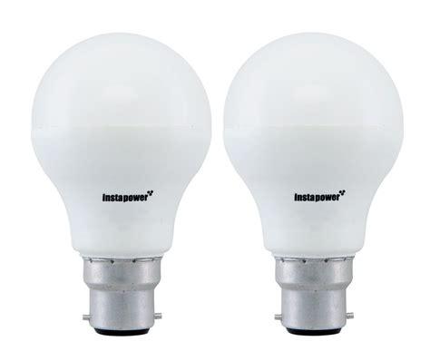 Lu Led In Lite 9 Watt Cool Daylight 137144 instapower base b22 9 watt led bulb pack of 2 only for rs 319
