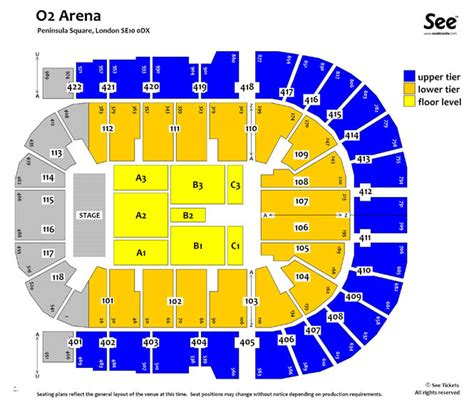 o2 floor seating plan 02 arena seating plan