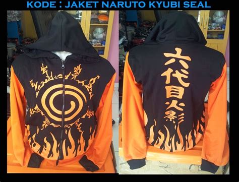 Jaket Anime Kyubi Seal Orange jaket kyubi seal