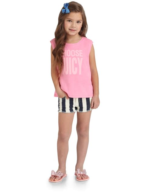 Positano Sofa Lyst Juicy Couture Toddlers Little Girls Striped Shorts