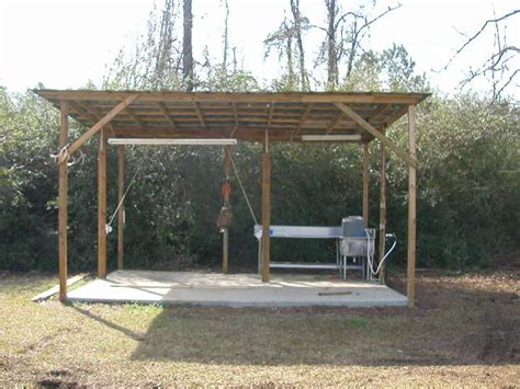 Deer Cleaning Rack by Plans For A Deer Skinning Shed Lawn Shed Plans