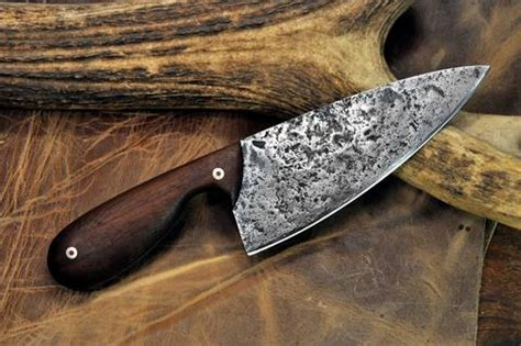 hand forged kitchen knife with cherry handle by shiraforge kitchen series oaks bottom forge