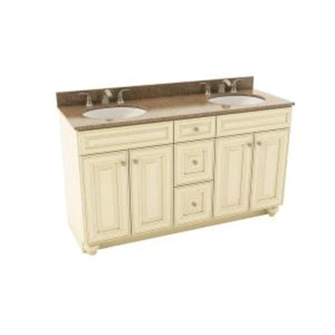 Silestone Bathroom Vanity Tops American Woodmark 61 In Vanity In Hazelnut With