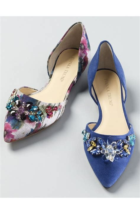 ivanka pink shoes pointy toe flats with colorful prints and crystals from