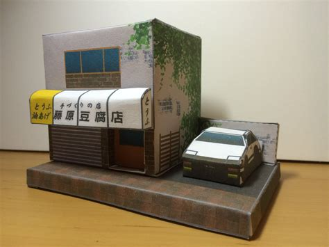 Papercraft Storage - fujiwara tofu store papercraft initial d by zhyper2 on