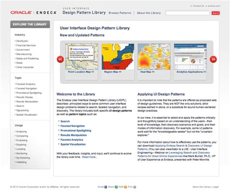 endeca pattern library top 10 search design pattern websites norconex inc