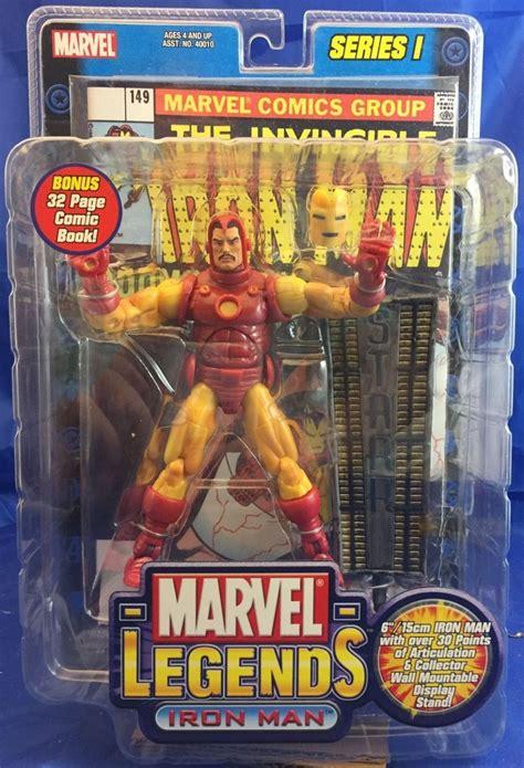 Marvel Legends Toybiz Iron Series I marvel legends series wave 1 iron figure w display