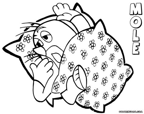 mole coloring pages coloring pages download print
