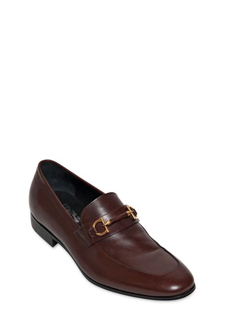 light brown loafers ferragamo platino bit leather loafers in brown for