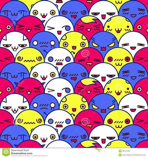 cute cartoon pattern cute cartoon pattern vector eps8 illustration royalty