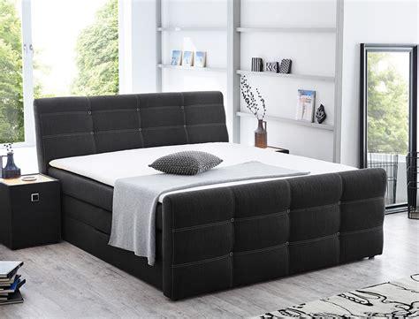 schlafzimmer nachttischle boxspringbett gregor 180x200cm bezug grau doppelbett bett