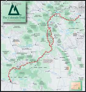 colorado trail map travel vacations