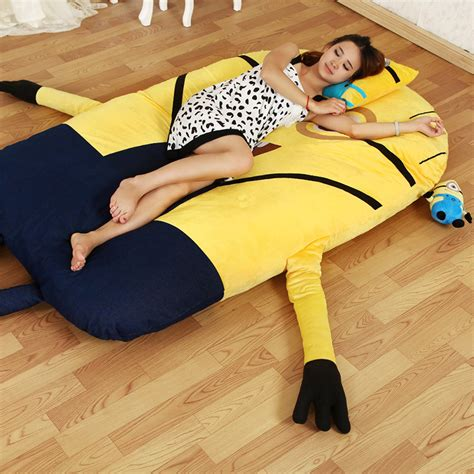 giant stuffed animal bed single cartoon minion mattress bed sofa tatami cushion