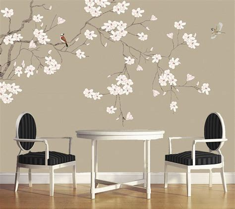 bird wallpaper home decor wall papers home decor magnolia flower chinese style