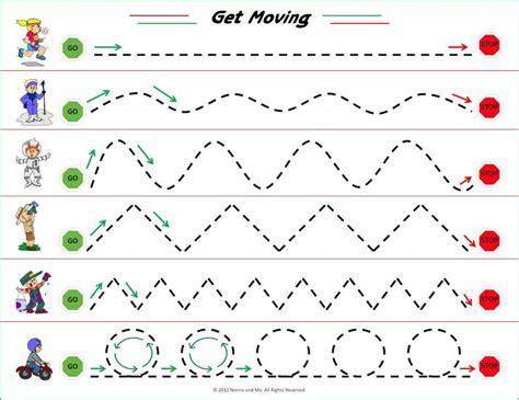 Motor Tracing Worksheets visual motor tracing worksheet preschool practice