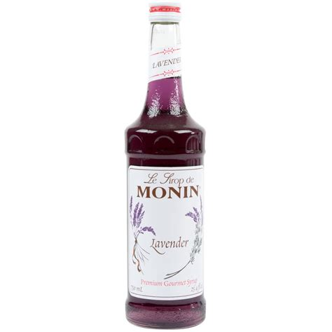 monin 750 ml premium lavender flavoring syrup